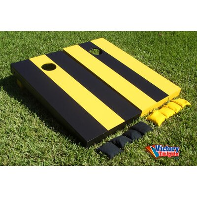 Alternating Striped Cornhole Bean Bag Toss Game