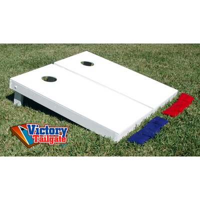 Victory Tailgate Matching Solid Colors Cornhole Bean Bag Toss Game