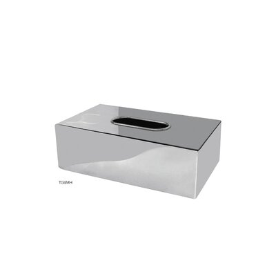 NU Steel Gloss Flat Tissue Box