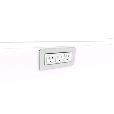 EYHOV Rise Surface Mounted Power Unit with 3 Outlets
