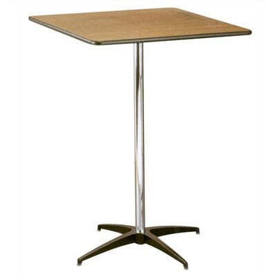 "Buffet Enhancements 30"" Square Pub Height Pedestal Table"