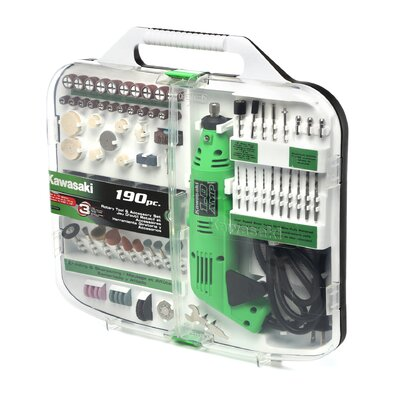 Kawasaki 190 Piece Rotary Tool and Accessory Set
