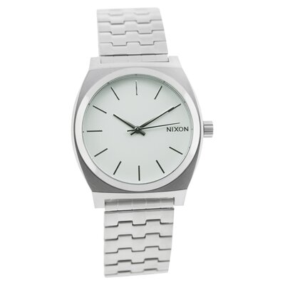 Men's Time Teller Watch with White Dial