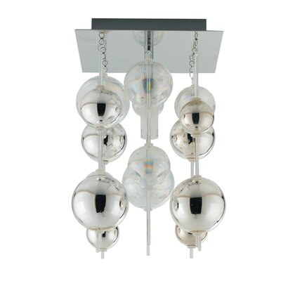 Morfeo 1 Light Semi Flush Ceiling Light