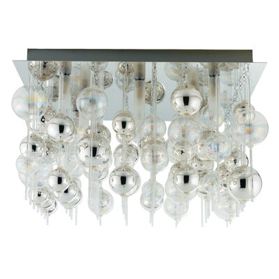 EGLO Morfeo 9 Light Semi Flush Ceiling Light