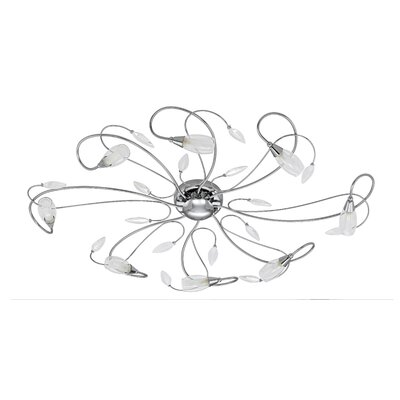 Gerbera 8 Light Semi Flush Ceiling Light
