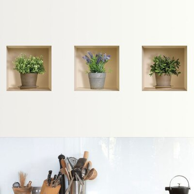 3D Effect Garden Herb Wall Decal (3-Piece Set)