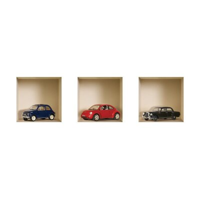3D Effect Model Car Wall Decals (Set of 3)