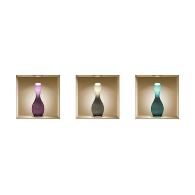 3D Effect Vase Wall Decals (Set of 3)