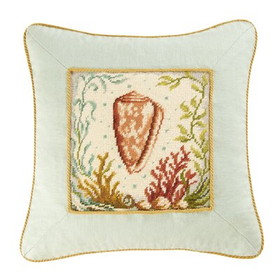 C & F Enterprises Natural Shells Cone Shell Pillow