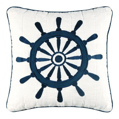Nantucket Dream Ship's Wheel Quilt Pillow
