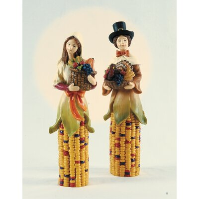 C & F Enterprises Harvest Couple Figurine (Set of 2)