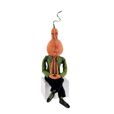 C & F Enterprises Gathered Traditions ''Patton'' Pumpkin Gourd Figurine