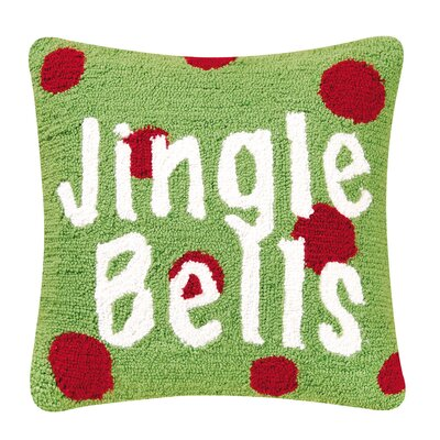 C & F Enterprises Jingle Bells Hooked Pillow
