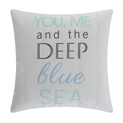 Deep Blue Sea Cotton Accent Pillow