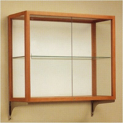 Waddell Heirloom 894 Series Wall Mounted Display Case (Oak Finish) with Mounting Kit
