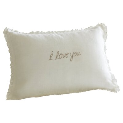 <strong>Taylor Linens</strong> I Love You Linen Boudoir Pillow