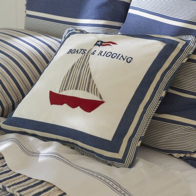 Taylor Linens Nautical Boats and Rigging Pillow