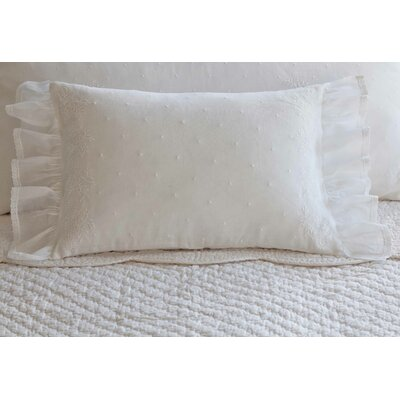Daisy Dot Cotton Boudoir Pillow