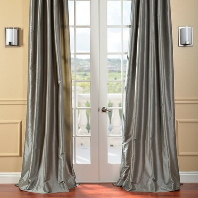 Half Price Drapes Faux Solid Taffeta Curtain Single Panel