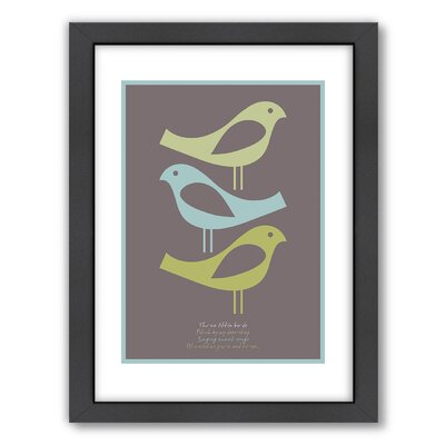 Americanflat Three Little Birds Wall Art