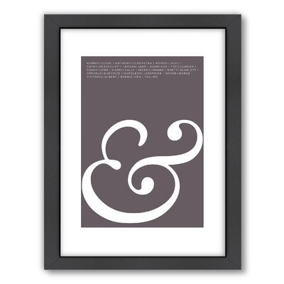 Americanflat Ampersand Love Wall Art
