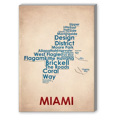 Americanflat Miami Textual Art on Canvas