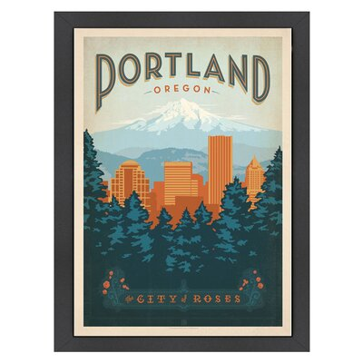 Americanflat World Travel 'Portland Oregon' by Joel Anderson Vintage Advertisement