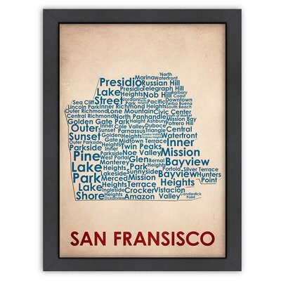 Typography Maps San Francisco Poster