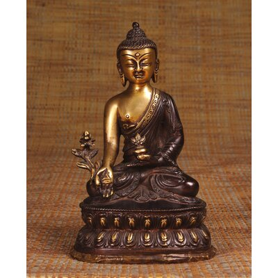 Miami Mumbai Brass Series Buddha with Medicine Bowl on Lotus