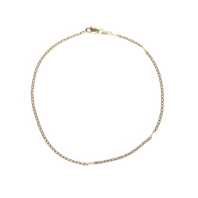 <strong>Jewelryweb</strong> 14k 1.5mm Anchor Link Chain Ankle Bracelet