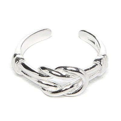 <strong>Jewelryweb</strong> Sterling Silver Love Knot Toe Ring