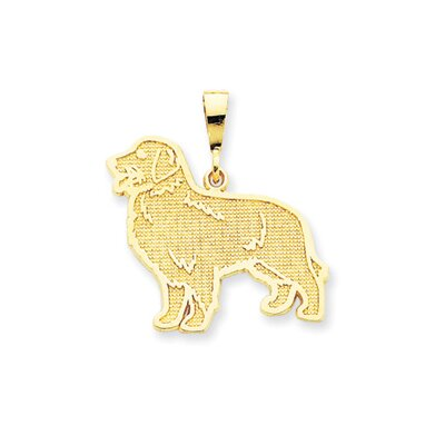 Jewelryweb 14k Golden Retriever Pendant