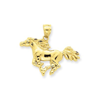 Jewelryweb 14k Polished Horse Pendant