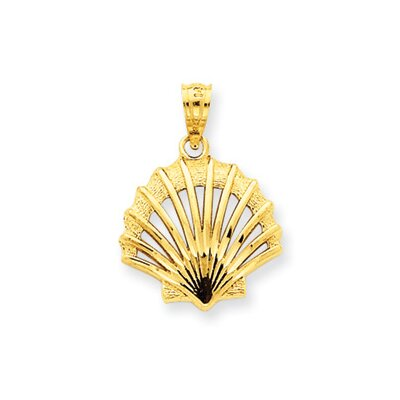 14k Satin and Polished Shell Pendant
