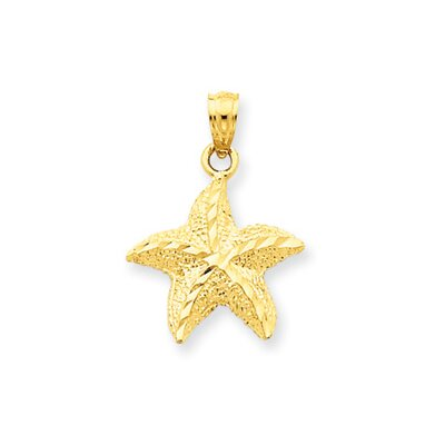 14K Starfish Pendant- Measures 22.5x16mm