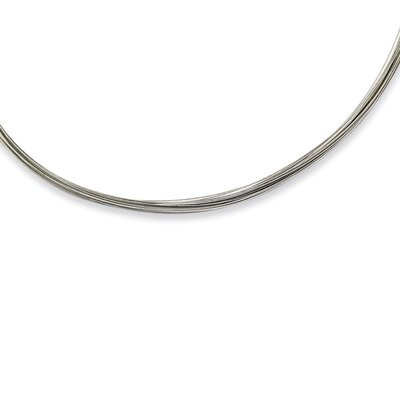 Jewelryweb 22S Wire Necklace - 18 Inch