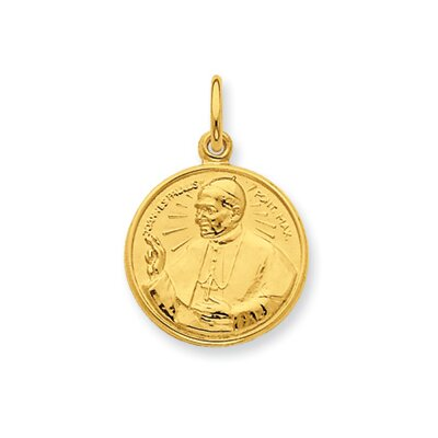 24k Gold-plated Sterling Silver Pope John Paul II Pendant