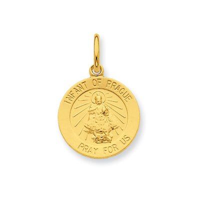 24k Gold-plated Sterling Silver Saint Peter Medal Pendant