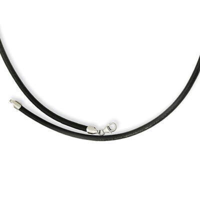 Jewelryweb 3.00 Genuine Leather Greece Textured Necklace