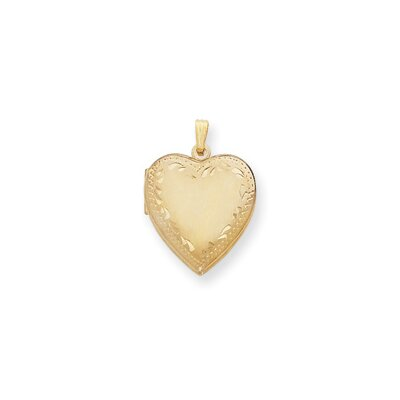 Gold-plated Heart Locket Necklace - 24 Inch