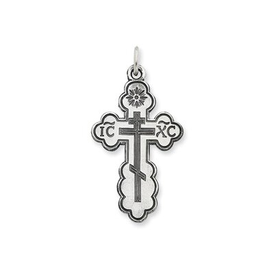 Jewelryweb Sterling Silver Eastern Orthodox Cross Pendant