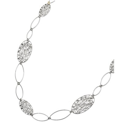 Jewelryweb Sterling Silver Fancy Necklace