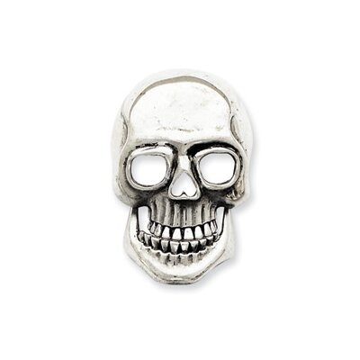 Jewelryweb Sterling Silver Movable Skull Pendant