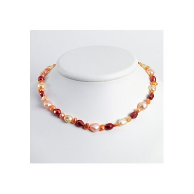 Jewelryweb Sterling Silver Multi-Color Cult. Pearl Necklace - 18 Inch- Lobster Claw
