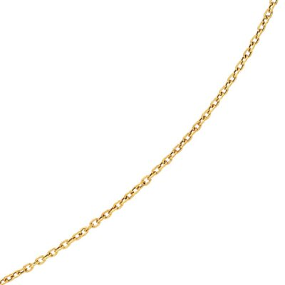 Jewelryweb 14K Necklace - 20 InchYellow Gold Brush Textured Oval Link