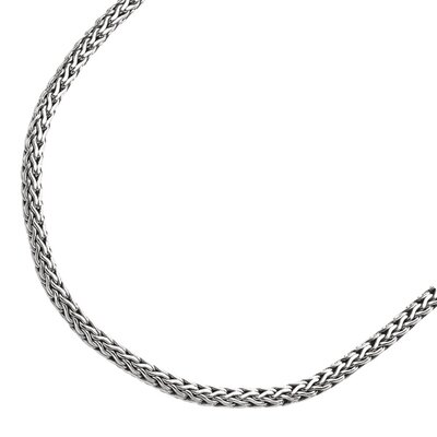 Jewelryweb Sterling Silver Rhodium Plated 5.85mmFancy Necklace - 18 Inch
