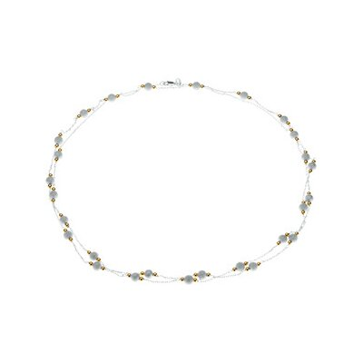 Jewelryweb Sterling Silver Bead Necklace 42 Inch