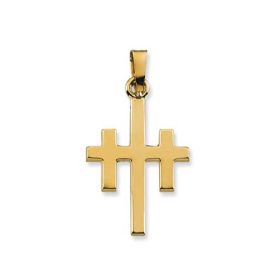 Jewelryweb 14k Yellow Gold Cross Of Forgiveness Pendant