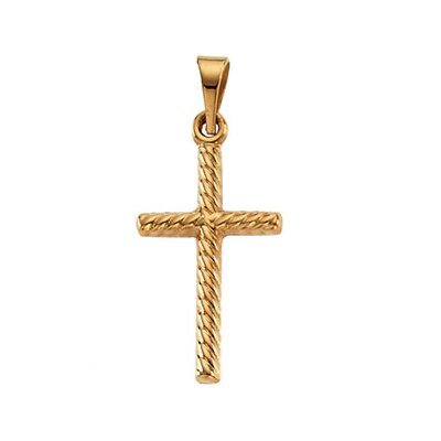 14k Yellow Gold Cross Pendant17.5x11mm
